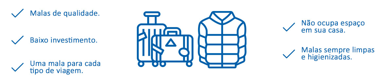 Por que alugar uma mala ou um casaco?