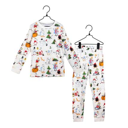 Moomin Snowman Pyjamas white