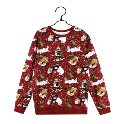Moomin Sweatshirt M Winter Star red