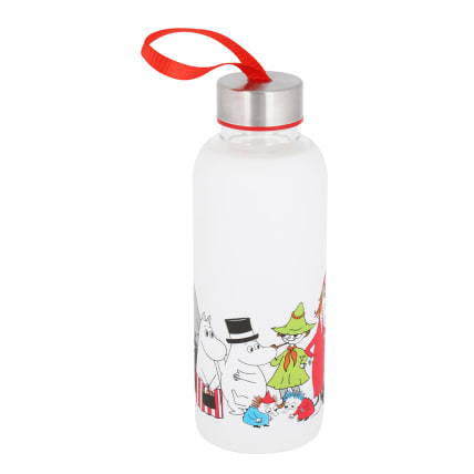 Moomin Characters Glas Bottle, silicone sleeve