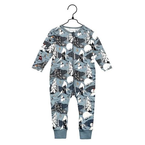 Muumi Jääkarhu-pyjama vauvalle sininen