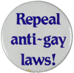Anti gay laws badge
