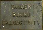 Radioactivity brass plate k newman