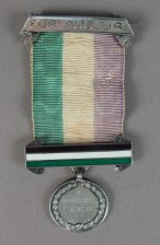 Suffragette hunger strike medal moad collection