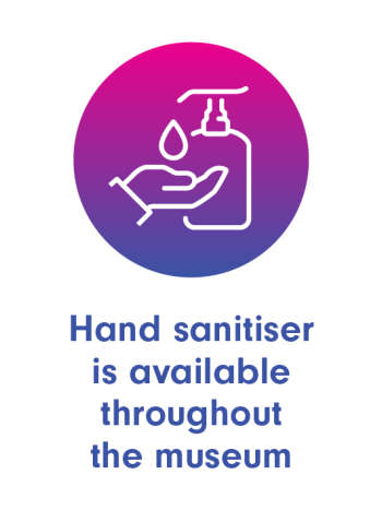 Hand sanitisers is available throughout the building