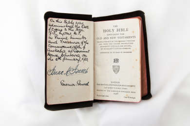 Bible used at the swearing in of Prime Minister Joseph Lyons, 6 January 1932