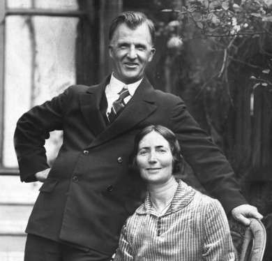 Prime Minister James Scullin and wife Sarah, October 1929