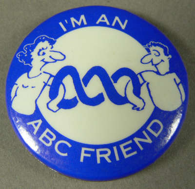'I'm an ABC Friend' badge from the Anne Picot Collection