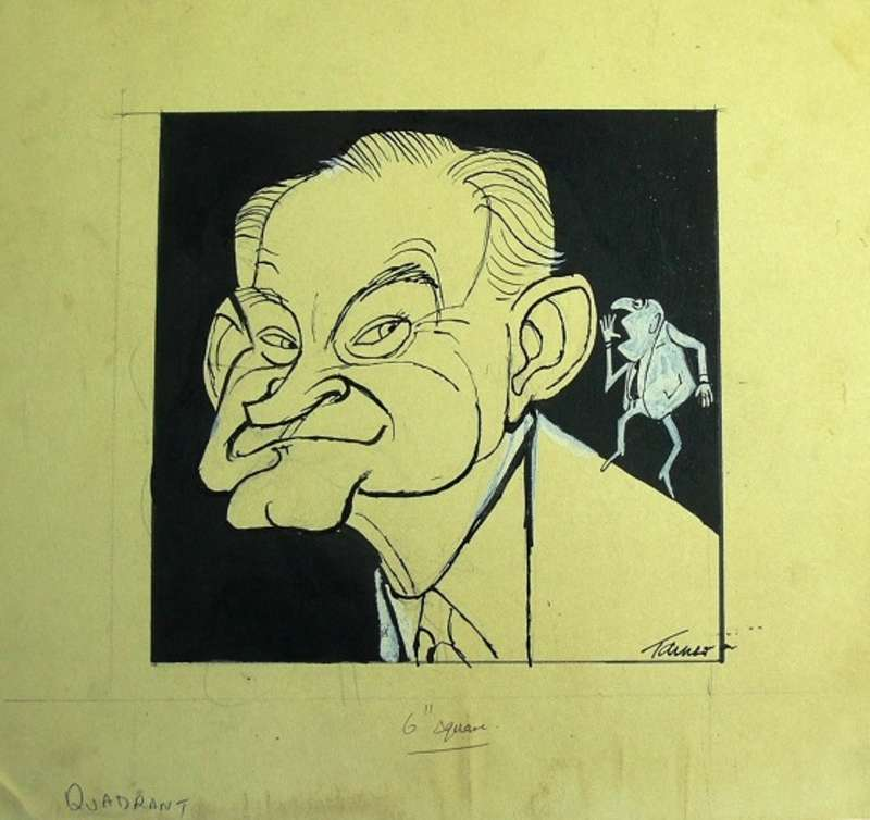 Cartoon of Alan Reid by Les Tanner