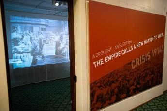 Entrance to Crisis 1914! The call to arms. Photographer: Mark Nolan