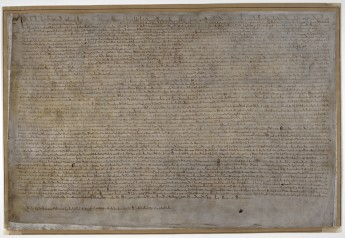 Magna Carta (15 June 1215). British Library Cotton MS Augustus II 106.