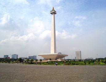 The National Monument in Merdeka Square, Jakarta, which marks Indonesian independence.