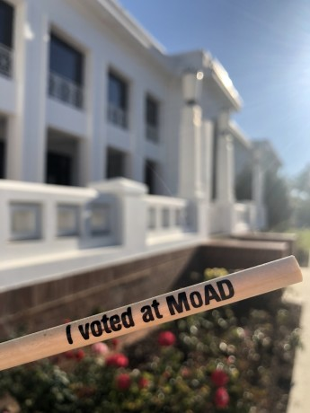 I voted at MoAD pencil 2019