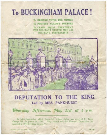 A leaflet promoting a suffragette march in London on 21 May, 1914. Museum of Australian Democracy collection.