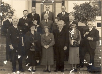 Joe Lyons with members of his government (and others), outside Parliament House, Canberra. Museum of Australian Democracy collection.