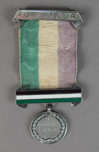 Charlotte Blacklock's hunger strike medal. Museum of Australian Democracy Collection.