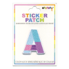 Picture of A Initial Color Block Sticker Patch