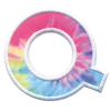 Picture of Q Initial Tie Dye Sticker Patch