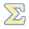 Picture of Sigma Greek Letter Sticker Patch