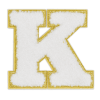 Picture of K Initial Varsity Sticker Patch