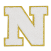 Picture of N Initial Varsity Sticker Patch