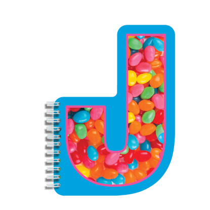 Picture of J Initial Notebook