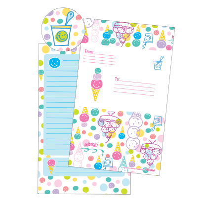 Picture of Happy Ice Cream Foldover Cards