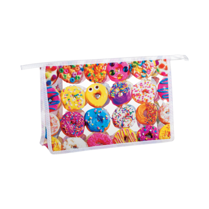 Picture of Assorted Donuts Clear Travel Bag