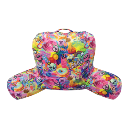 Picture of Psychedelic Collage Lounge Pillow