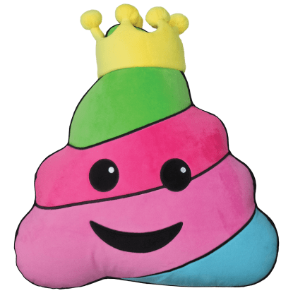 Picture of King Poop Scented Embroidered Pillow