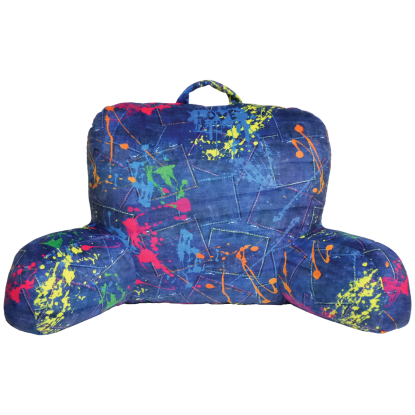 Picture of Paint Splatter Denim Lounge Pillow