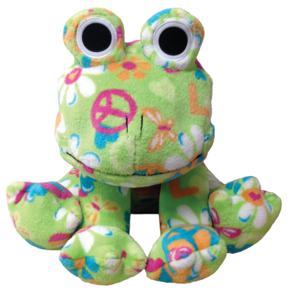 Picture of Flower Power Frog Stuffed Animal