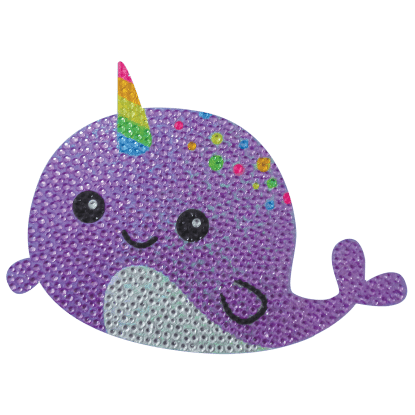 Picture of Narwhal Rhinestone Decals