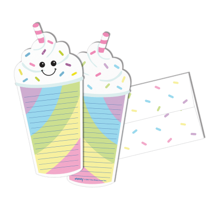 Picture of Milkshake Glitter Notecards