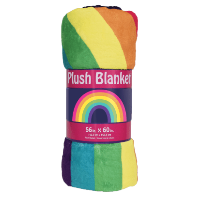 Picture of Rainbow Plush Blanket