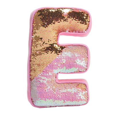 Picture of E Initial Reversible Sequin Pillow
