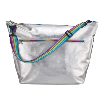 Picture of Silver Metallic Weekender Bag
