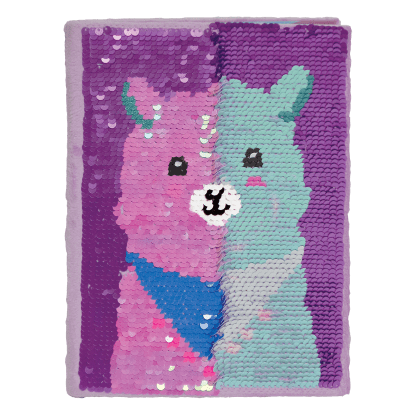 Picture of Llama Reversible Sequin Journal