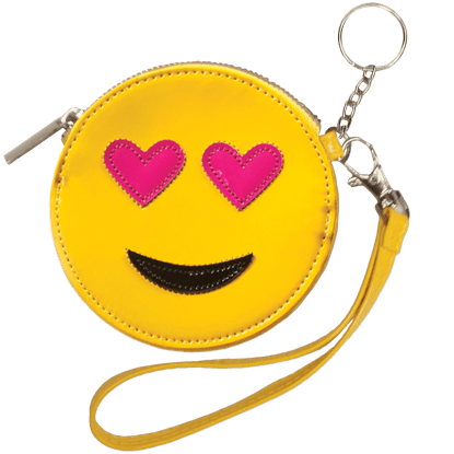 Picture of Heart Eyes Emoji Purse Key Chain