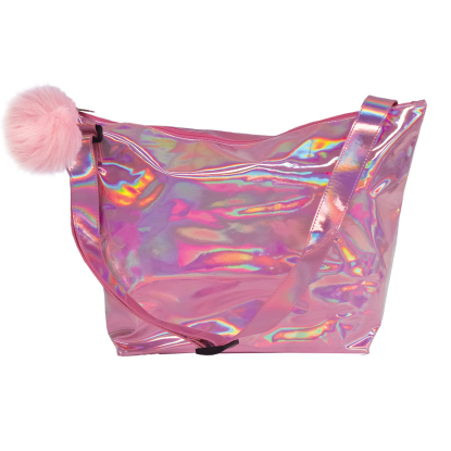 Picture of Pink Holographic Overnight Bag