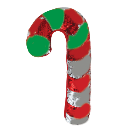 Picture of Candy Cane Reversible Sequin Pillow