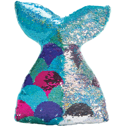 Picture of Mermaid Tail Reversible Sequin Pillow