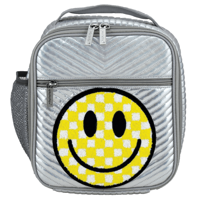 Picture of Checkered Smiley Face Chevron Lunch Tote