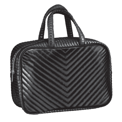 Picture of Black Chevron Large Cosmetic Bag