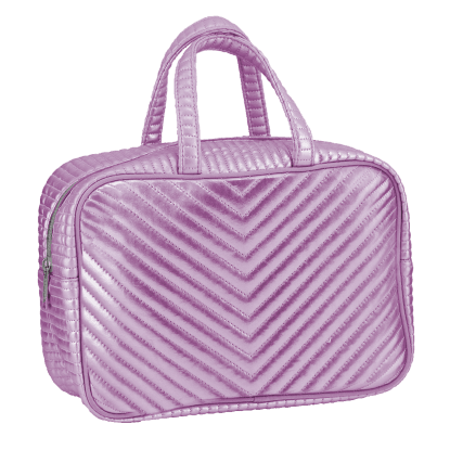 Picture of Pink Chevron Large Cosmetic Bag