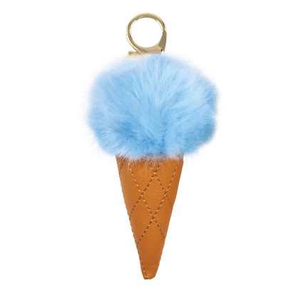Picture of Ice Cream Furry Pom-Pom Clip Blue