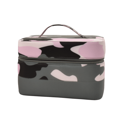 Picture of Purple Camo Puffer Cosmetic Case