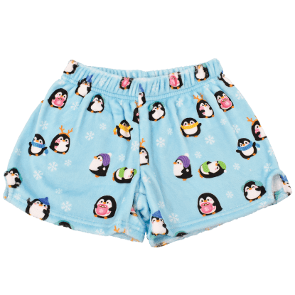 Picture of Holiday Penguins Plush Shorts