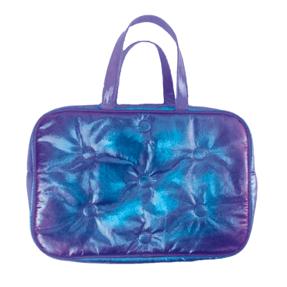 Picture of Shimmering Tufted Metallic Large Cosmetic Bag