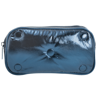 Picture of Blue Tufted Metallic Small Cosmetic Bag